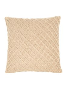 Diamond knit cushion, latte