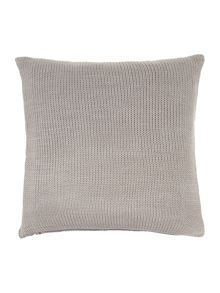 Diamond knit cushion, grey
