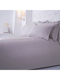 Dobby stripe double duvet set grey