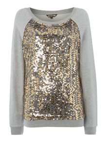 Sequin front sweat
