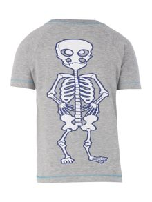 Boys skeleton back t-shirt