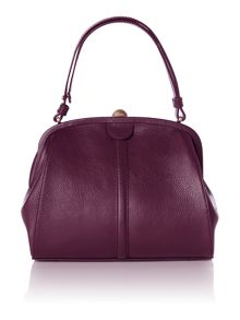 Double frame grab handbag