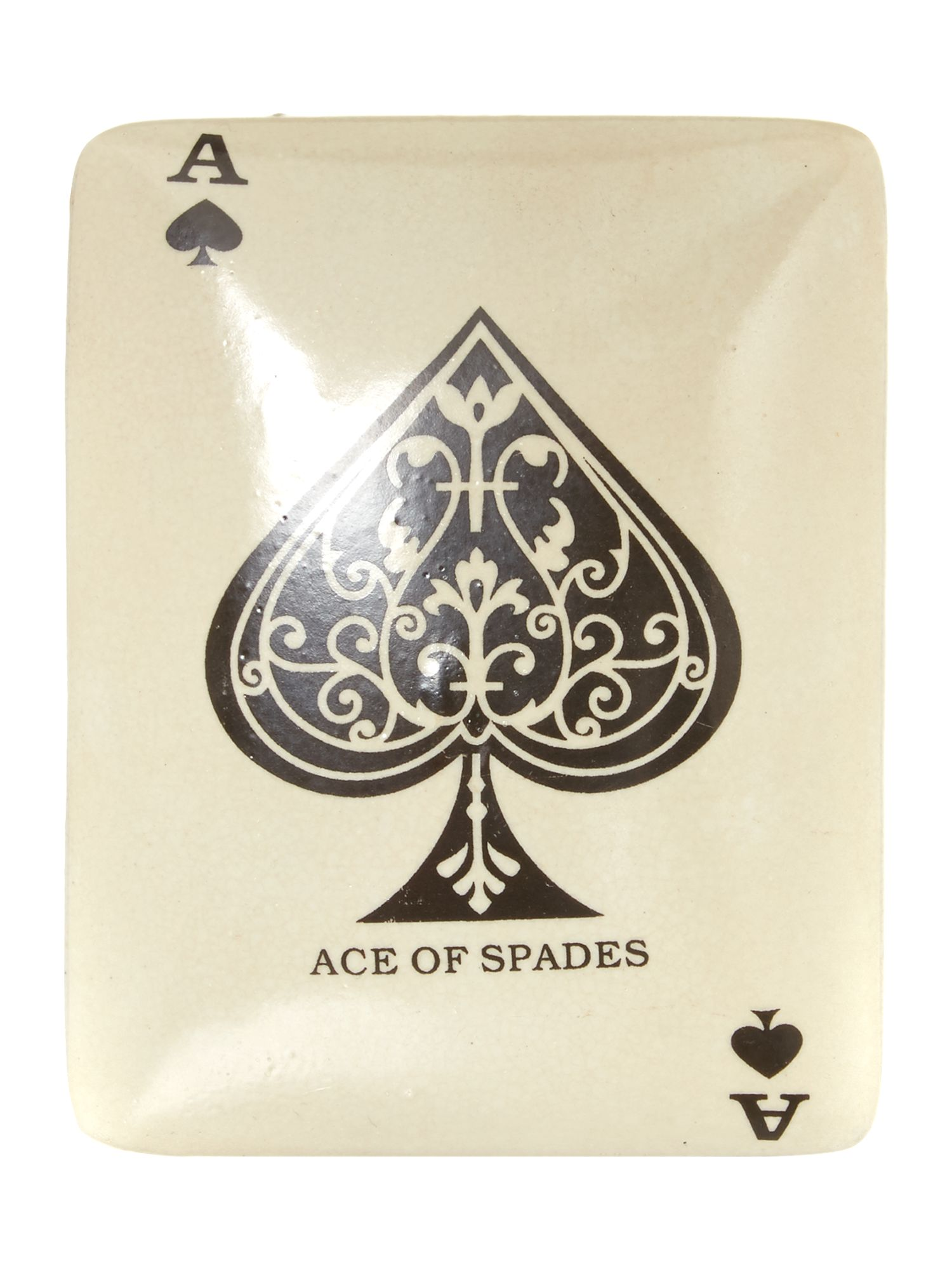 Ace if spades ceramic desk box