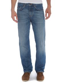 Kansas light used wash straight leg jean