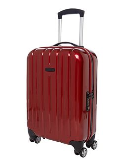 Movelite red 4 wheel hard cabin suitcase