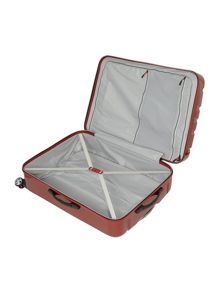 Linea Movelite red 4 wheel hard cabin suitcase