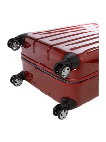 Movelite red 4 wheel hard medium spinner