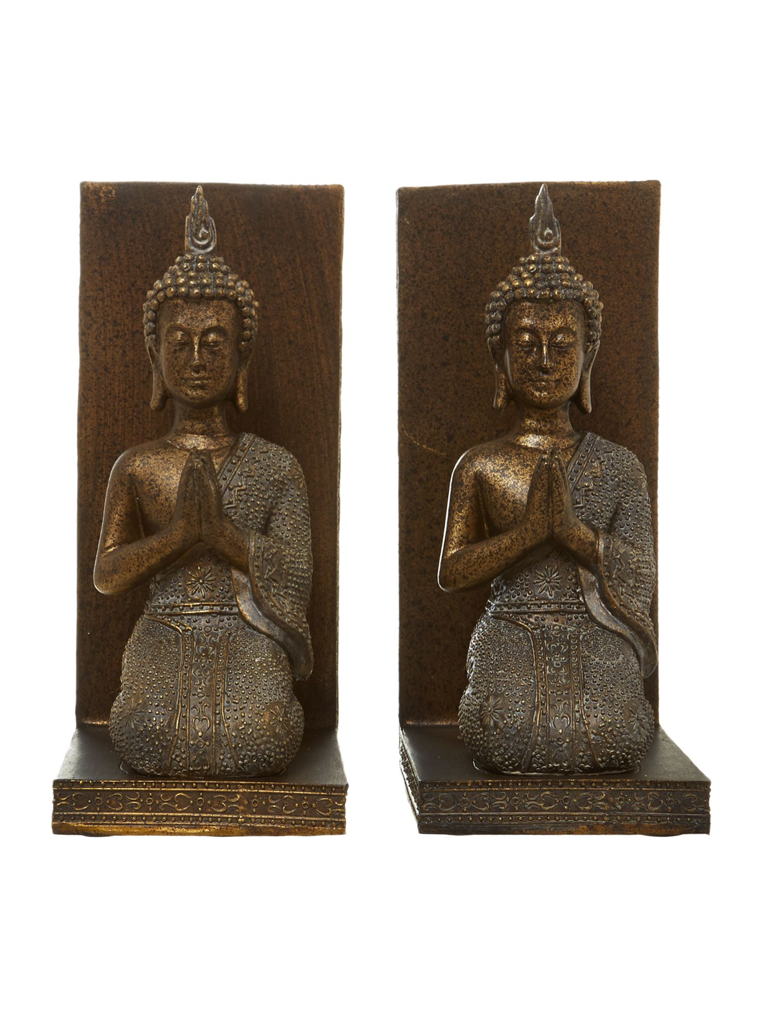 Buddha bookend set
