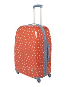 Polka dot red 4 wheel large case