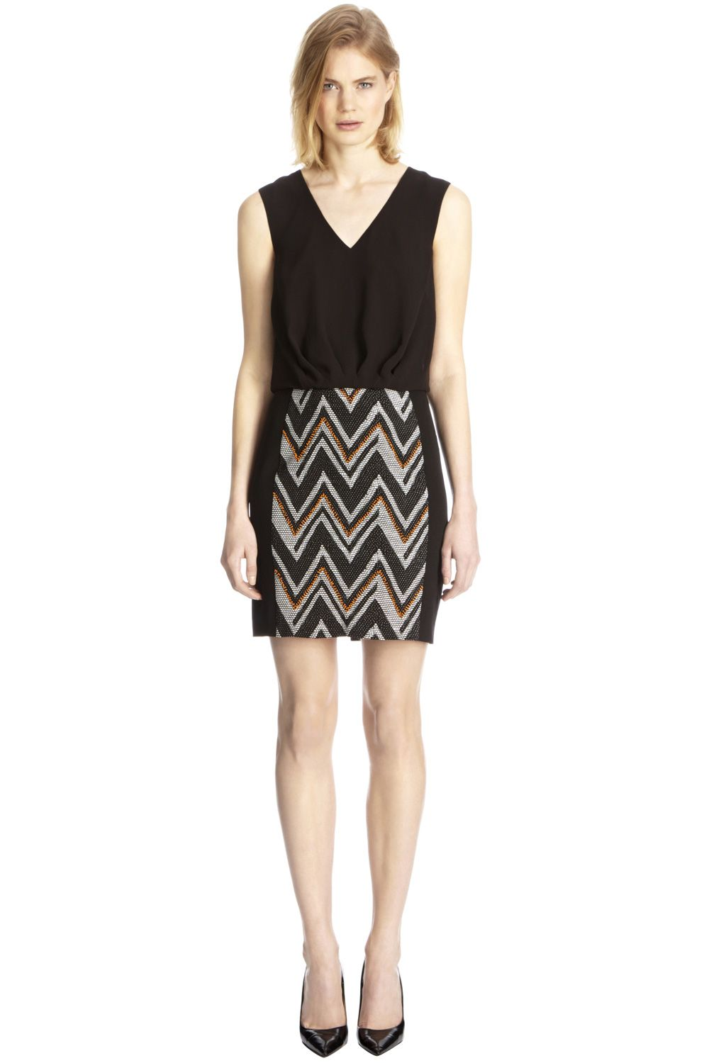 Chevron skirt soft top dress