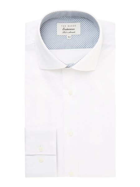 Ted Baker Rosest Slim Fit Plain Poplin Shirt