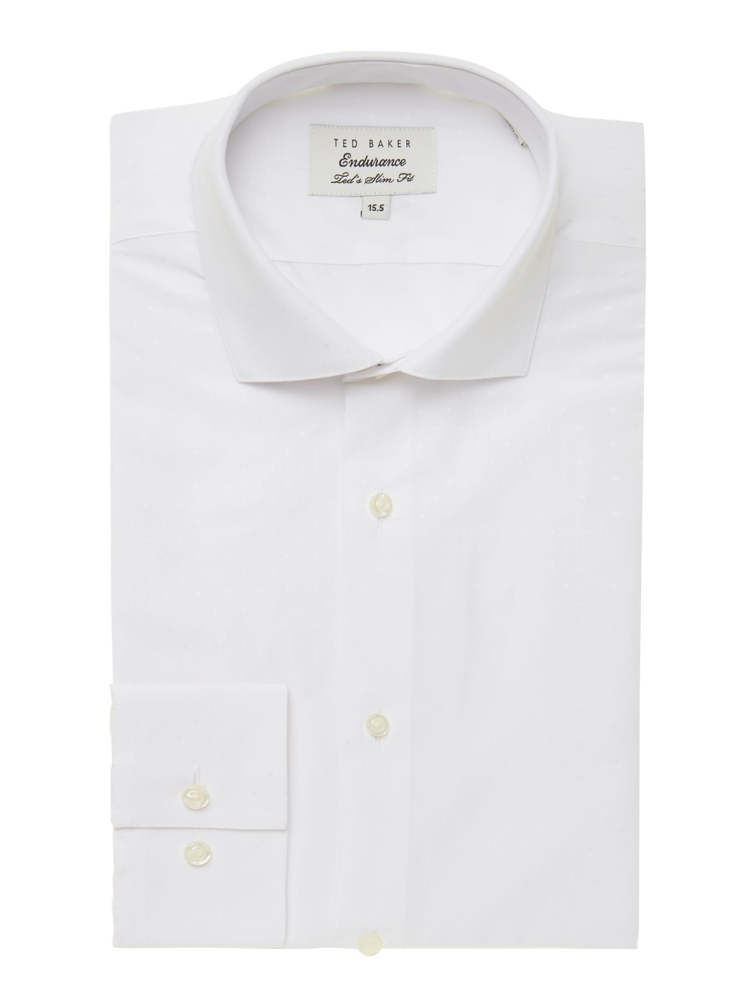 Baldock slim fit dobby spot shirt