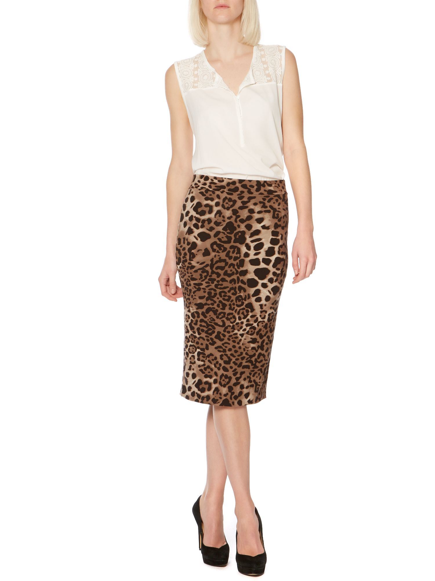 Leopard tube skirt