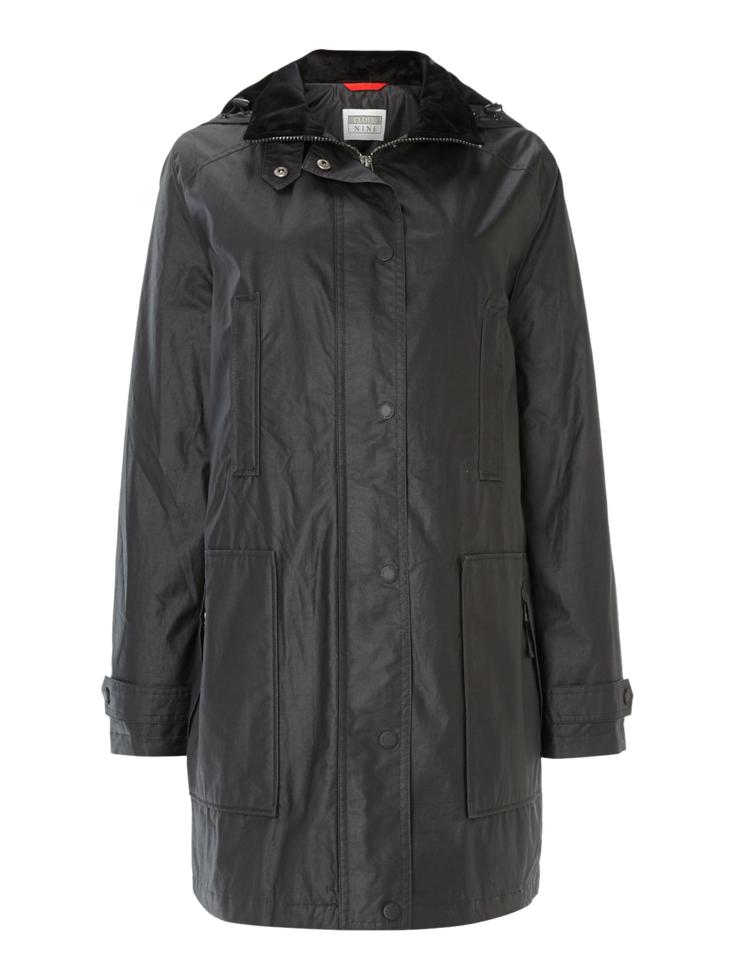 Funnel Neck Single Breasted Jacket
