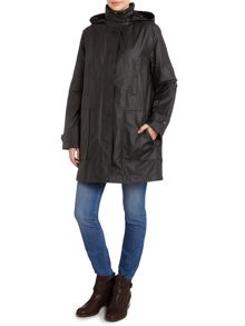 Cloud Nine Funnel Neck Single Breasted Jacket