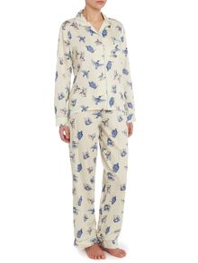 Kingfisher print cotton pj set