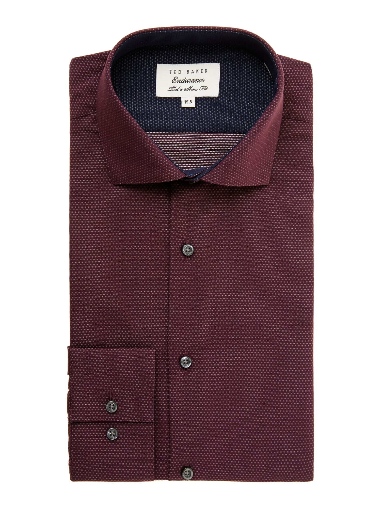 Darsham slim fit mini spot shirt