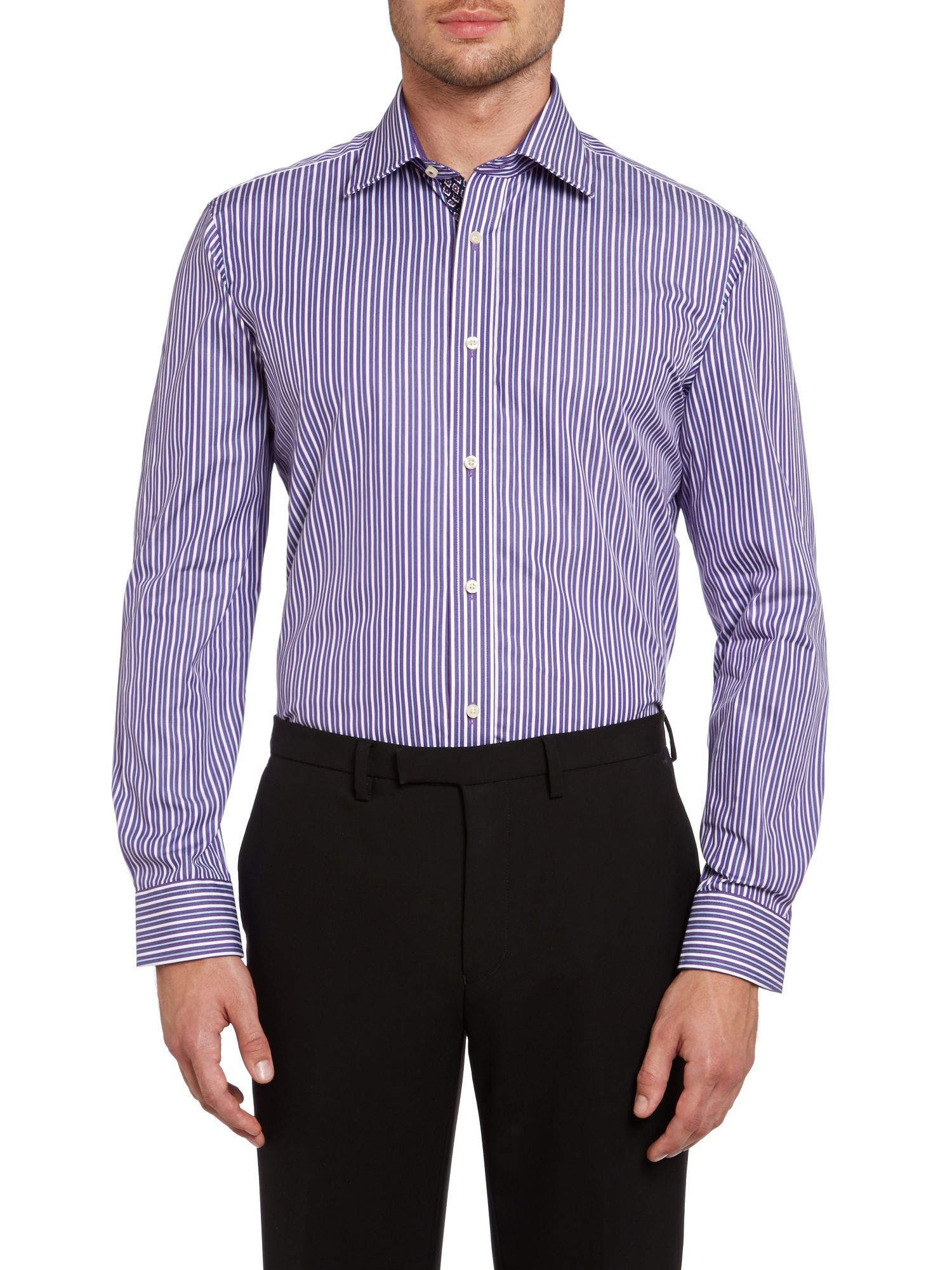 Walcot regular fit stripe shirt