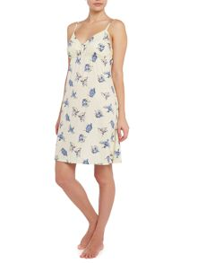 Kingfisher print cotton chemise