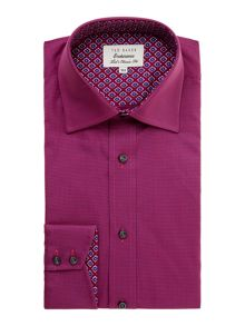 Yeovil regular fit puppytooth shirt