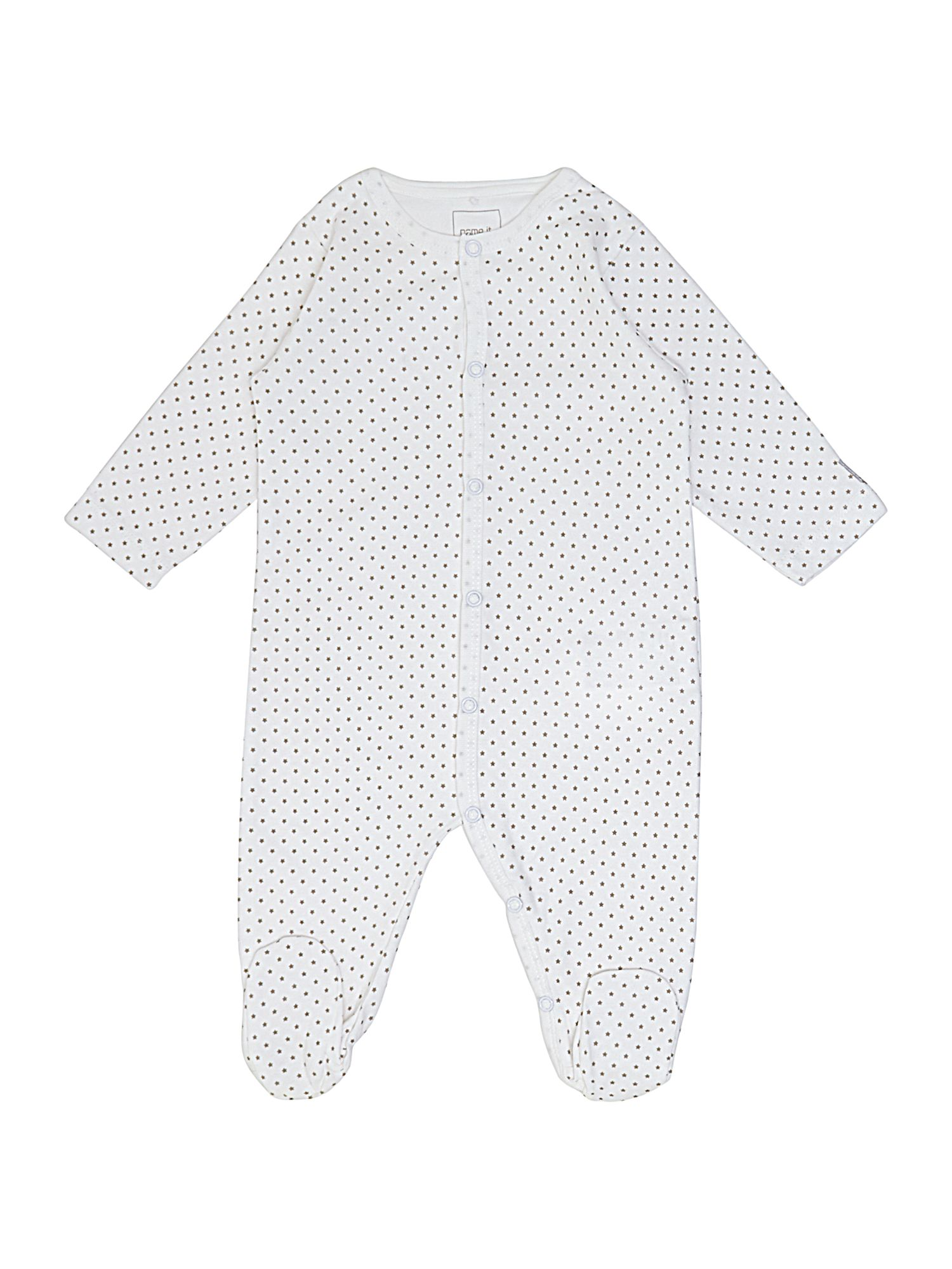 Babys star print sleepsuit with feet