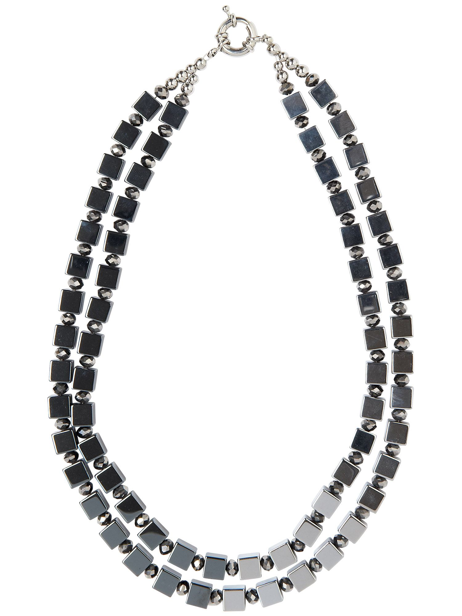 Monica square bead necklace