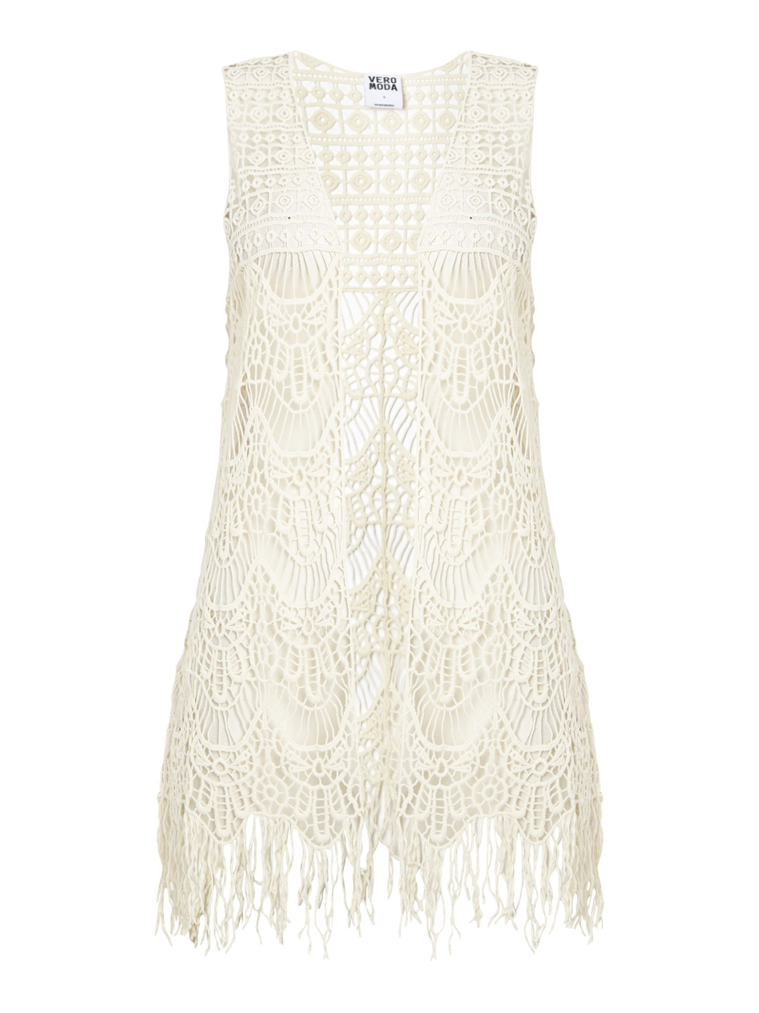 Sleeveless fringe waist