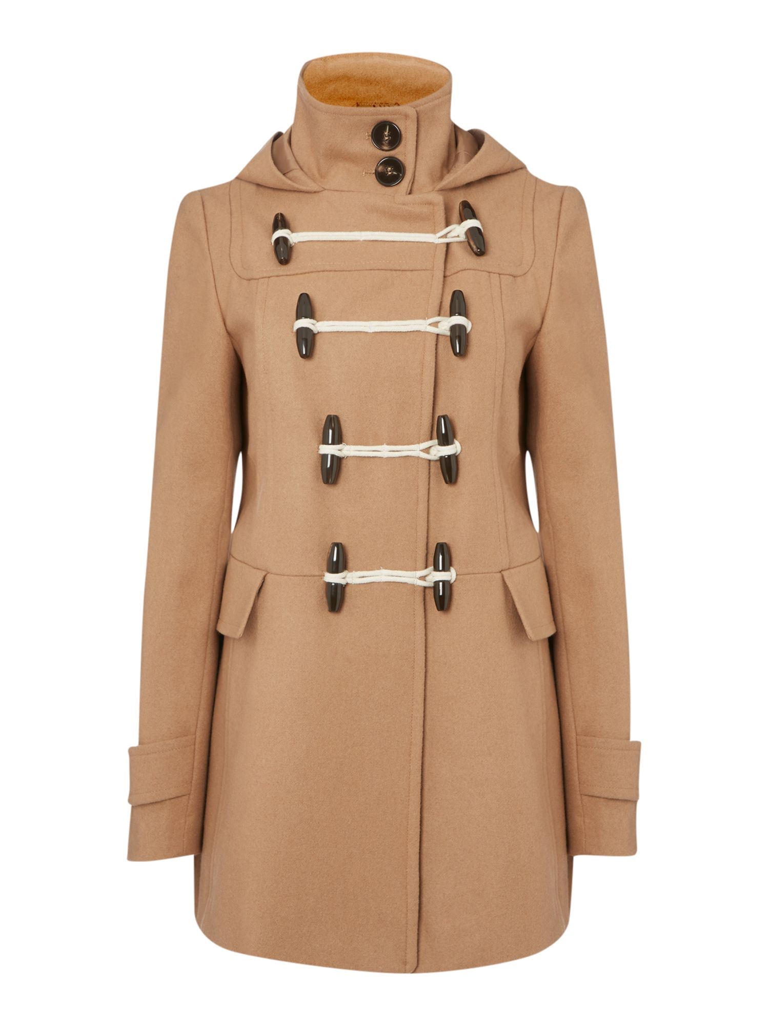 Hooded duffle coat