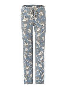 Porcelain floral printed jersey trouser