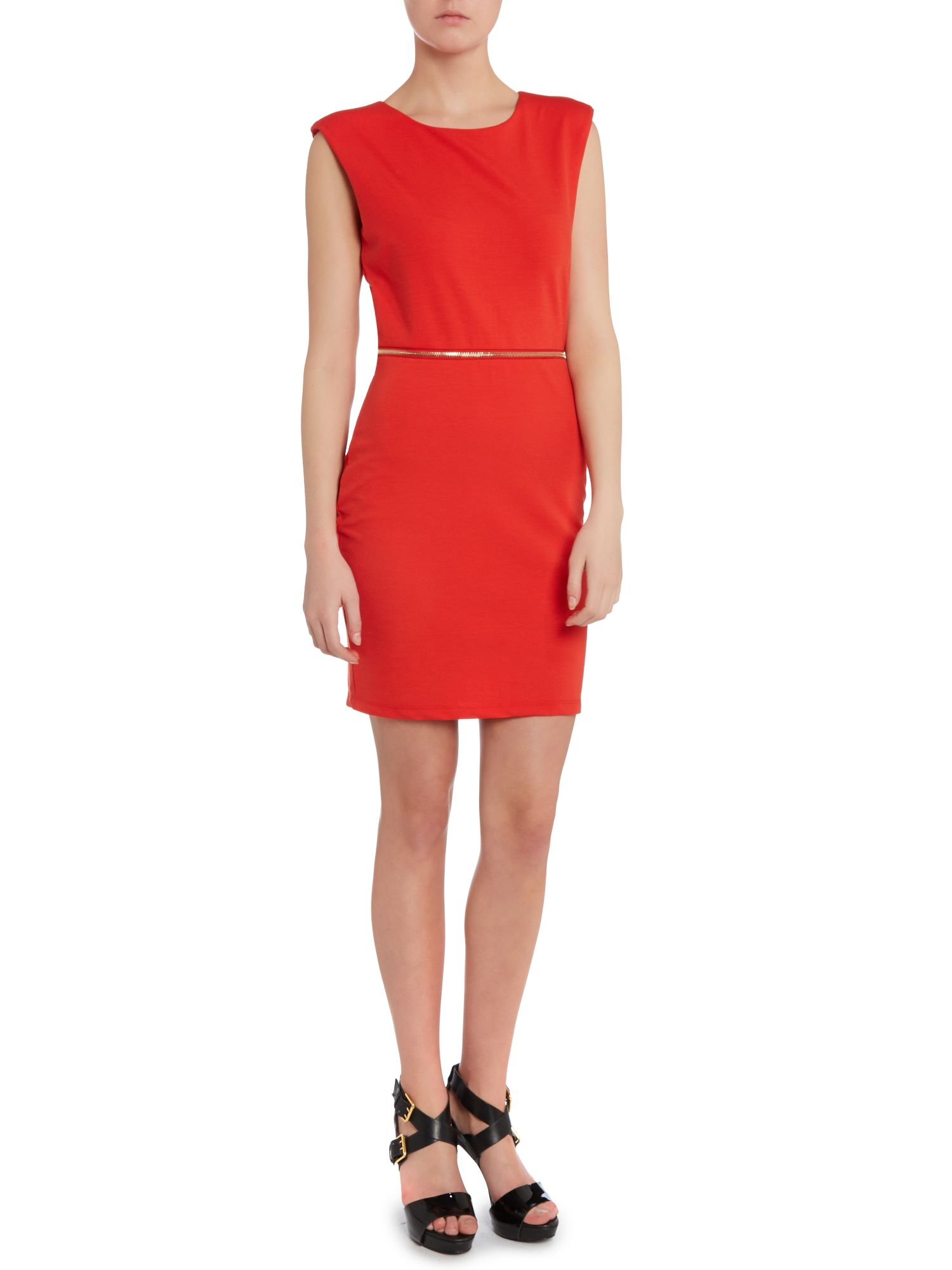 Kardashian Kollection neon cut out back dress