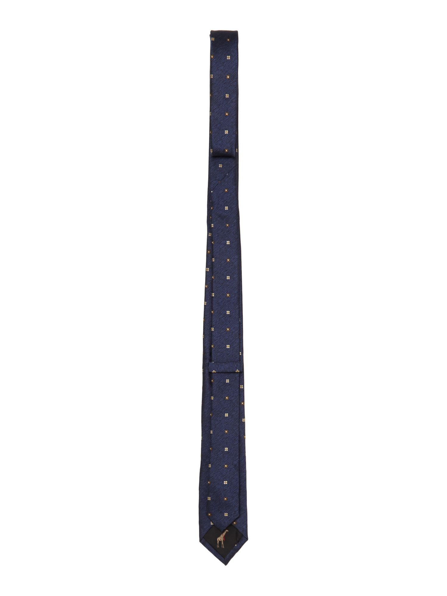 Small geometric slim tie