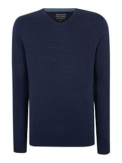 Men's Howick Arlington V-Neck 100% Lambswool Jumper