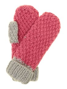 Lambeth pompom knitted mittens