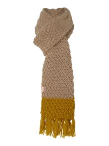Lambeth pompom knitted scarf
