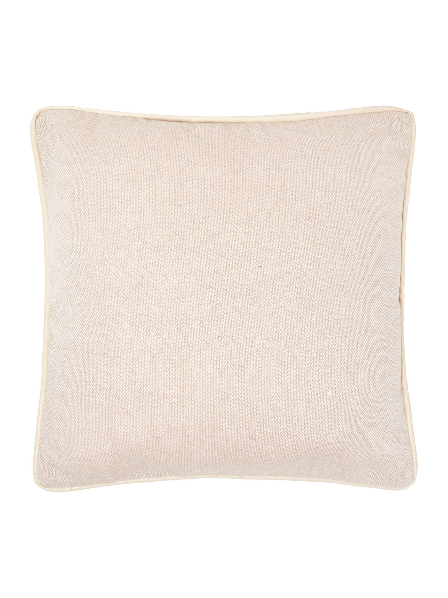 Herringbone cushion, cream