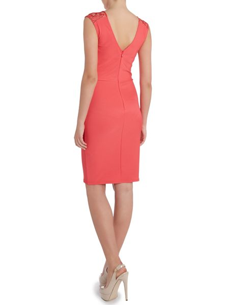 Lipsy Lace capped sleeved bodycon dress