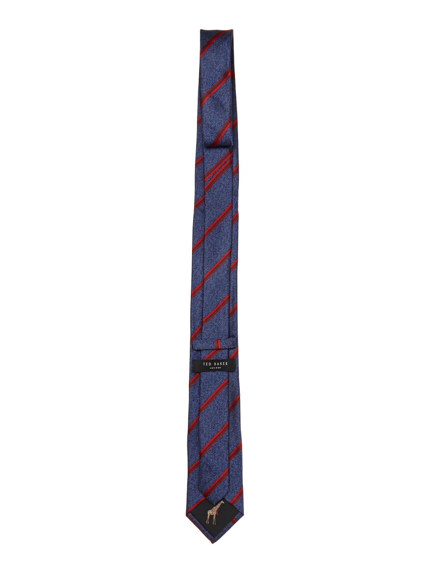 Floral geometric regular tie
