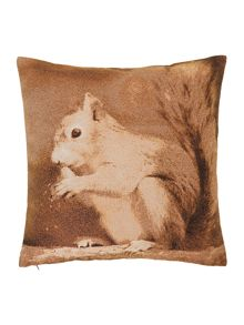 Squirrel jacquard cushion