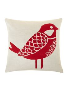 Bird knitted cushion