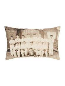 Cricket team cushion, oblong