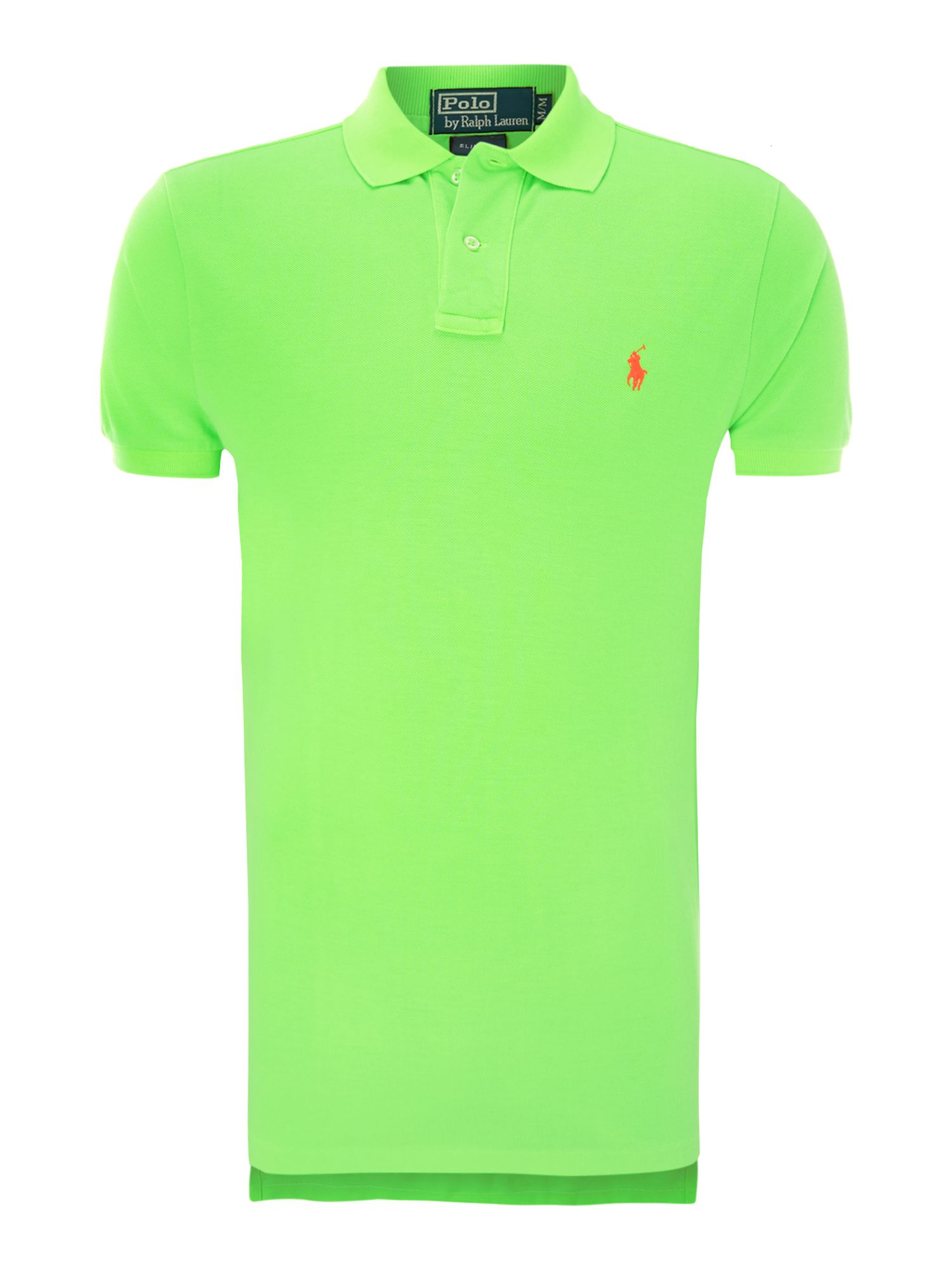 Neon slim fit polo