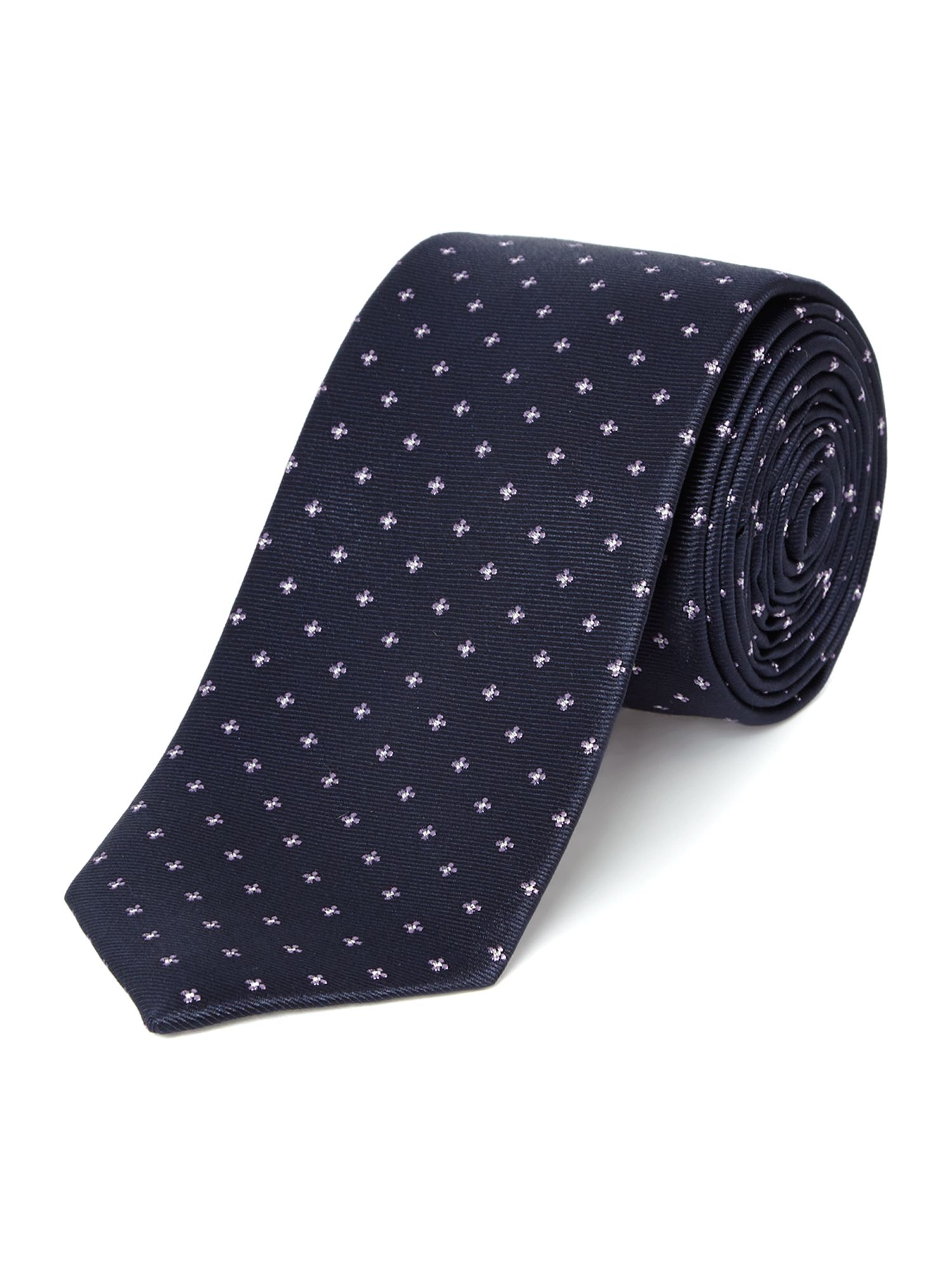 Star small shiny star geo silk tie