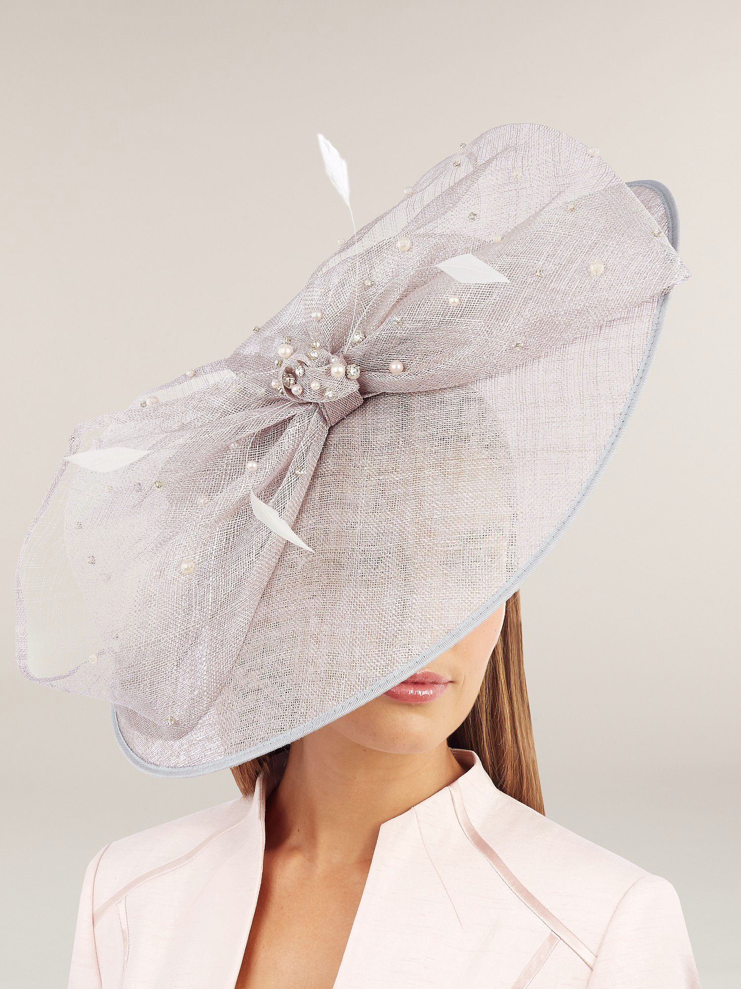 Pearl & Diamante Trim Fascinator