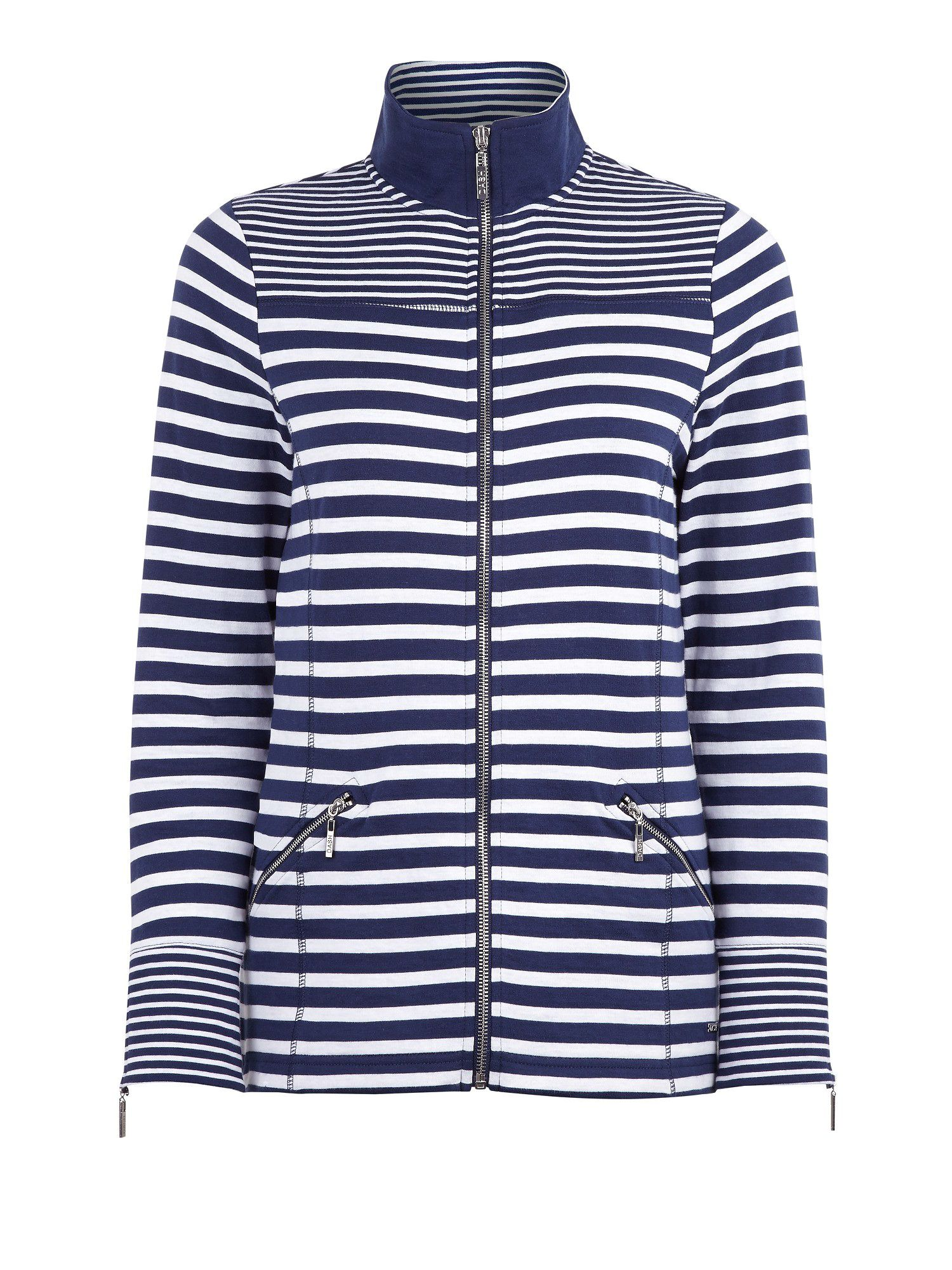 Navy Stripe Jersey Jacket
