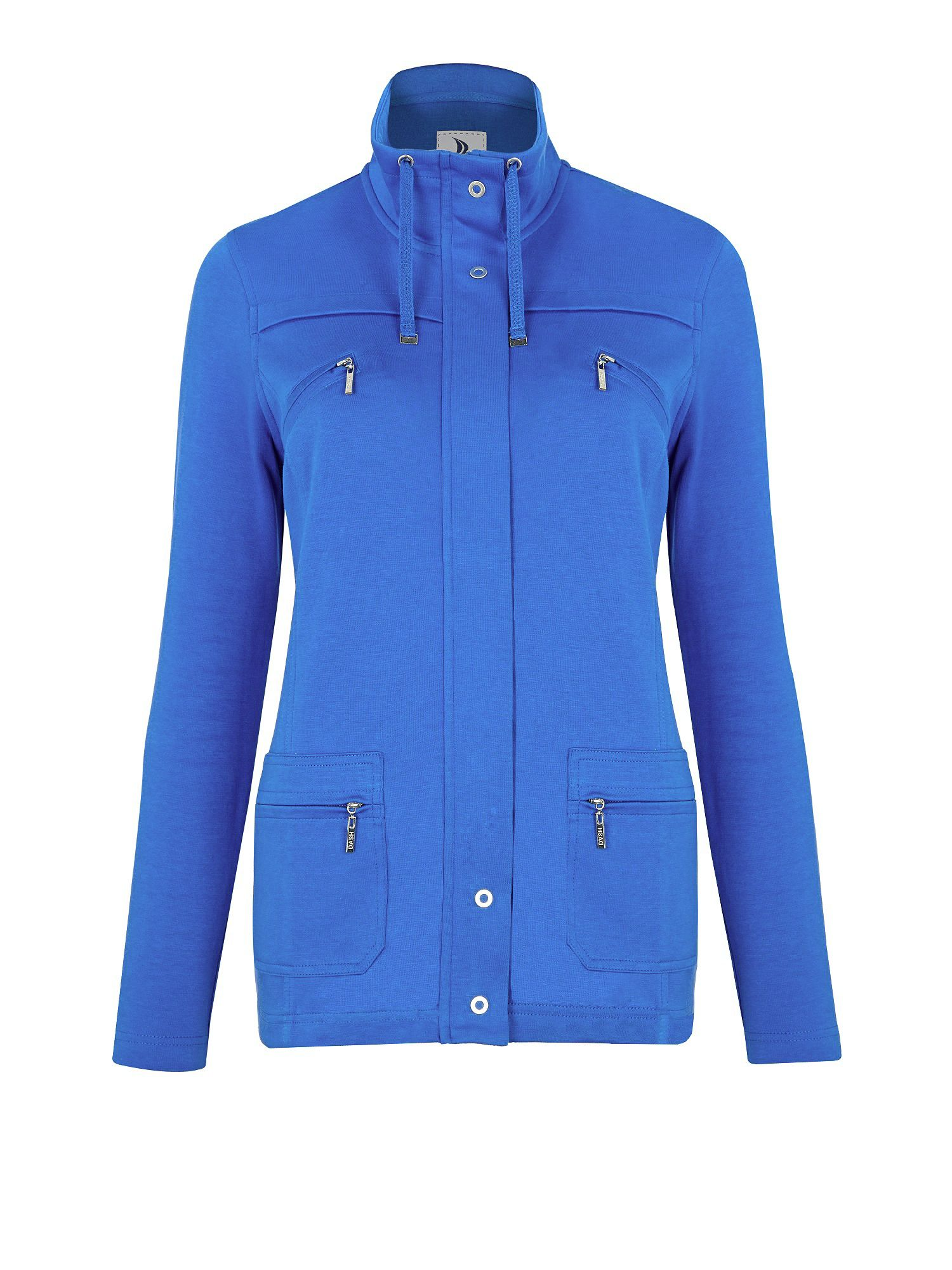 Wide Collar Interlock Jacket