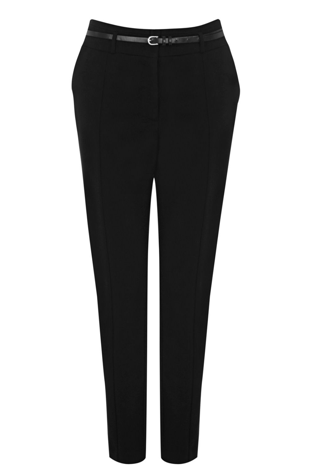 Cotton belted trouser