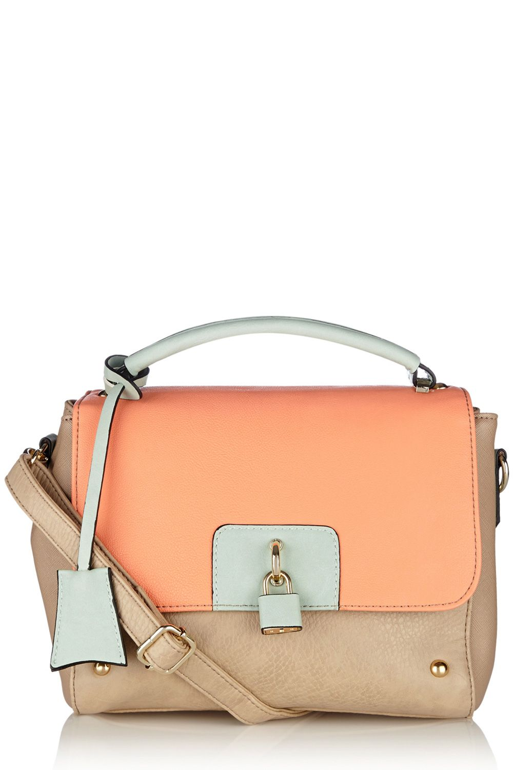 Tamsin colour block top handle bag