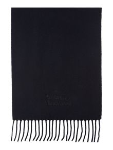 Embroided logo wool scarf