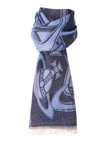 Orb placement wool mix long scarf