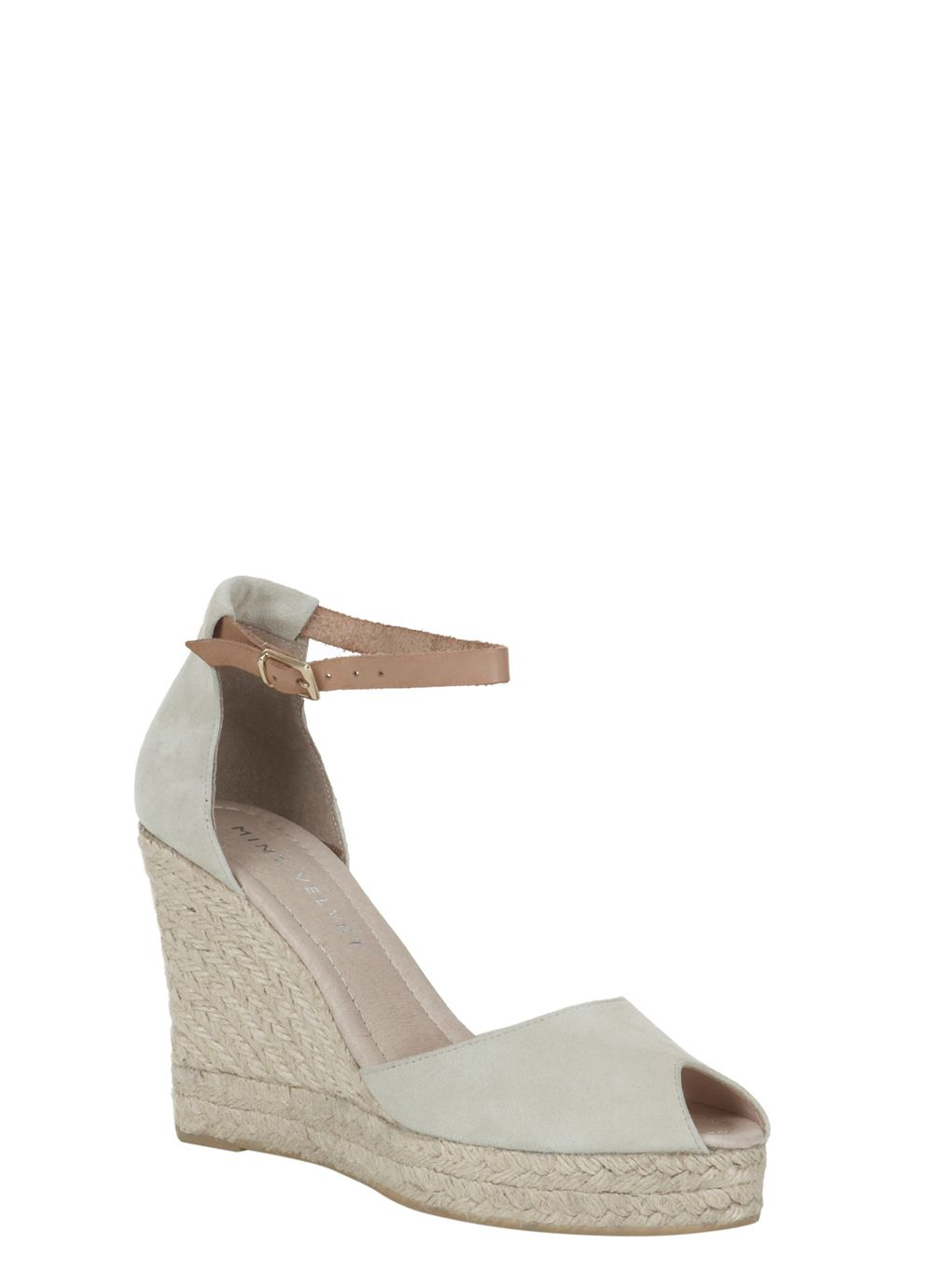 Cream & tan bryony wedge